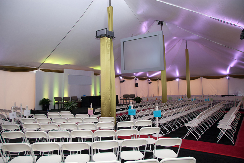 Corporate Awards Ceremony red carpet runner projection screen